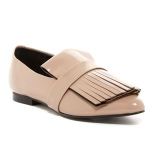 Marc Fisher LTD Shonda Fringe Loafers- Patent Nude